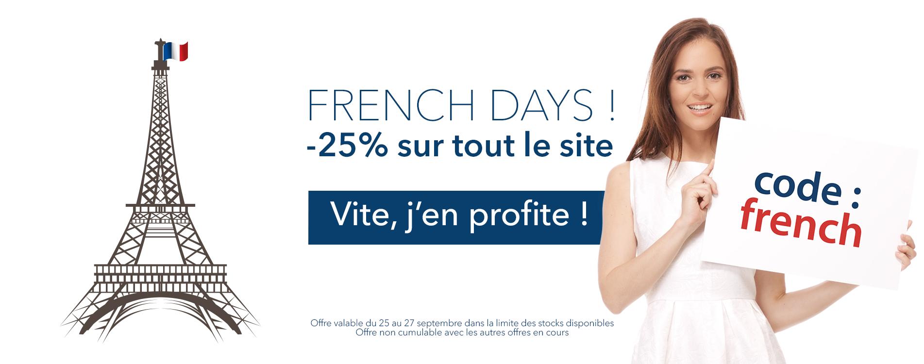 -25% sur toute la boutique pour les French days