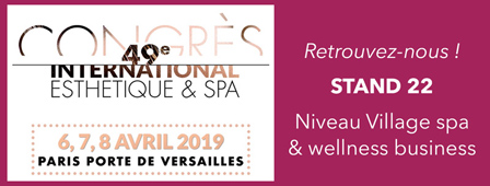 Clairjoie au congres international esthetique et spa