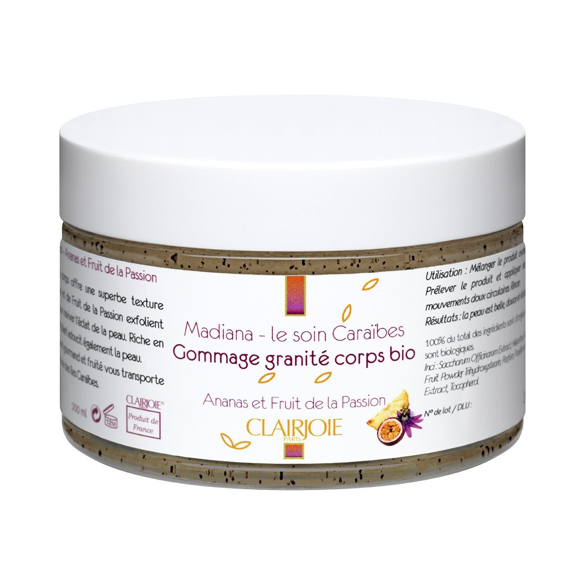 Gommage corps granité ananas passion