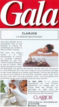 Les soins Clairjoie dans le carnet d'adresses Clairjoie