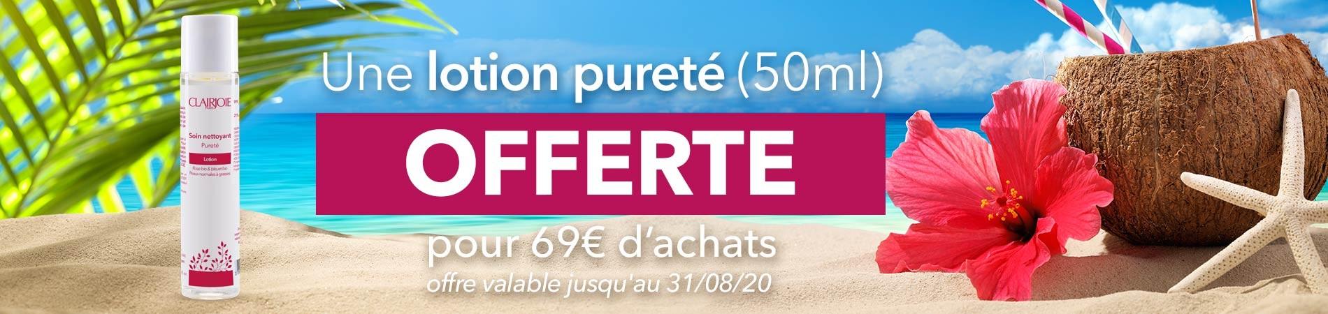 Lotion 50 offerte dès 69 euros d'achats