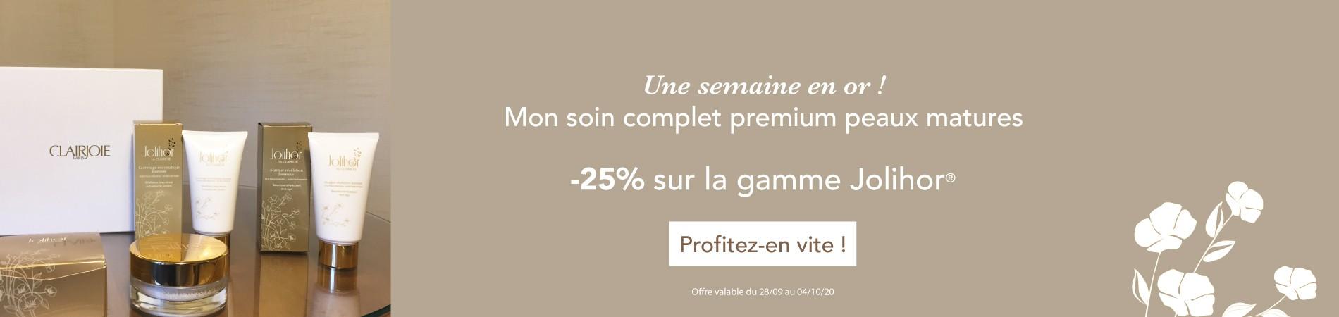 -25% de réduction sur la gamme Jolihor